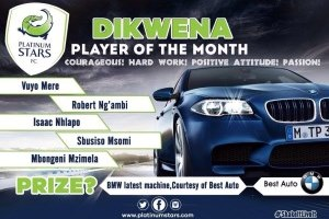 DIKWENA REWARDS PLAYER'S HARD WORK WITH BMW BEST AUTO